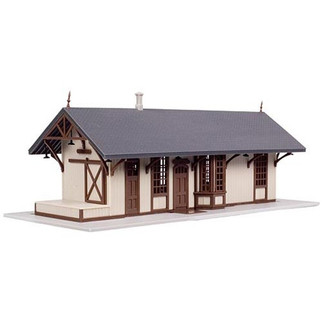 2848 ATLAS  N Scale Maywood Station Kit Tan w/Brown Trim