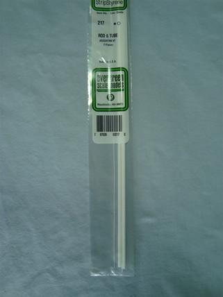 217 Evergreen Scale Models Rod & Tube Assortment
