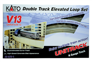 20-872-1 N Scale KATO Double-Track Elevated Loop Track Set