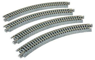 "20-170 Kato Unitrack N Scale  8-9/16"" R Curve 45 Degree (4)"