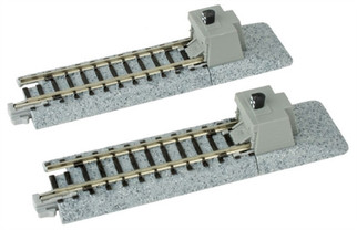 "20-046 Kato Unitrack N Scale  2-7/16"" Straight Bumper A (2)"
