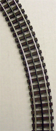 "WT-54-101 O Scale GarGraves 54"" Diameter Curved Track (Phantom Tinplate)"