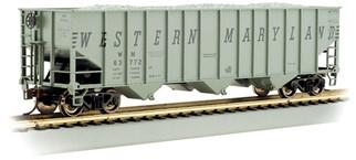18737 HO Bachmann Beth Steel 100 Ton 3-Bay Hopper-Western Maryland #63834