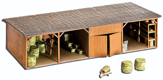 187 HO Model Power Farm Building Kit