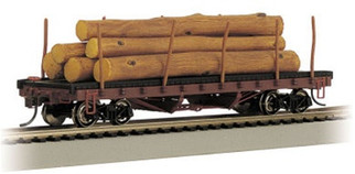 18332 Bachmann HO ACF 40' Log Car with Painted Resin Logs