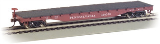 17314 HO Bachmann 52' Flat Car-Pennsylvania
