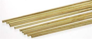 "164 K&S Engineering Solid Brass Rod 1/8""  (1)"