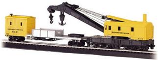 16114 Bachmann HO 250-Ton Steam Crane & Boom Tender Pennsylvania