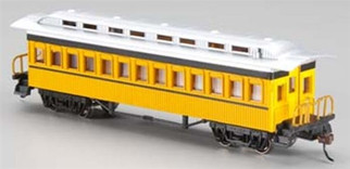 13403 HO Bachmann 1860-1880 Passenger Cars-Coach Painted, Unlettered-Yellow