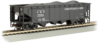17605 HO Bachmann 40' Quad Hopper-Chesapeake & Ohio #71511