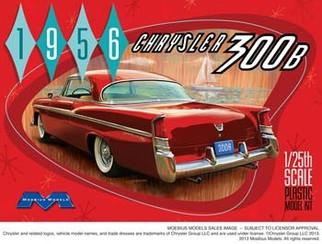 1207 Moebius 1956 Chrysler 300B 1/25 Scale Plastic Model Kit