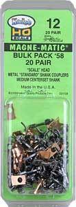 HO Kadee #58 Bulk Pack Magne-Matic Couplers (20)