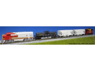 106-6271 N Scale KATO F7 Freight Train Set AT&SF 5 Car Set (No Track or Transformer)