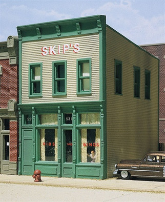 10500 Woodland Scenics Design Preservation Models HO Skip's Chicken and Ribs Building Kit