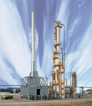 933-3705 HO Scale Walthers Cornerstone United Petroleum Refinery Kit