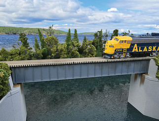 933-4508 HO Scale Walthers Cornerstone 90' Single TrackRailroad Deck Girder Bridge