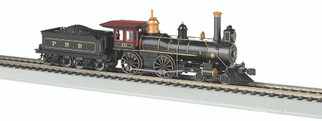 51005 HO Scale Bachmann American 4-4-0 Locomotive with Coal Load(DCC Ready)-Pennsylvania