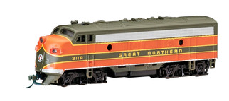 63752 N Scale Bachmann F7A Diesel Locomotive(DCC)-Great Northern