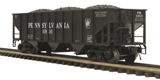 20-97843 O Scale MTH Premier 70-Ton 3-Bay Hopper Car-Pennsylvania