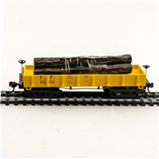724022 HO Scale Mantua Classics Wooden Vintage Freight Car -U.P. 1860 Log Car