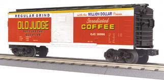 30-74880 O Scale MTH RailKing Box Car-Old Judge Coffee