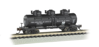 17151 N Scale Bachmann 30Dome Tank car Philadelphia Quartz