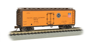 19852 N Scale Bachmann 40' Wood-Sided Reefer-Pacific Fruit Express #65150