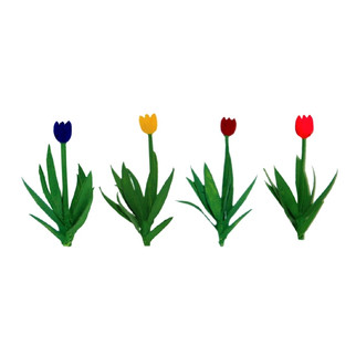 """95555 O Scale JTT Scenery Tulips 1"""" Tall Variety Color Assortment 36/pk"""