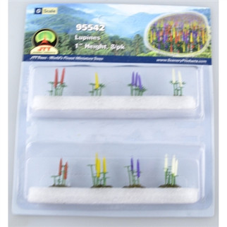 """95542 O Scale JTT Scenery Lupines 1"""" Height 8/pk"""