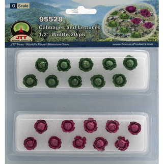 """95528 O Scale JTT Scenery Cabbages and Lettuces 1/2"""" Width 20/pk"""