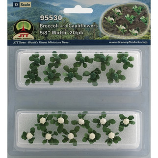 "95530 O Scale JTT Scenery Broccoli and Cauliflowers 5/8"" Width 20/pk"