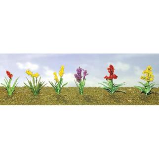 "95560 O Scale JTT Scenery Assorted Flower Plants 2, 1"" Height 10/pk"