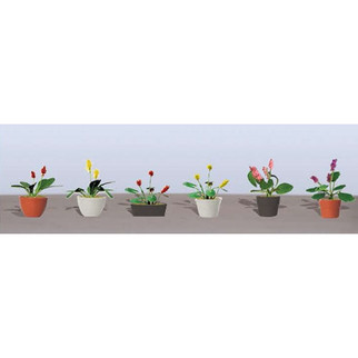 95570 O Scale JTT Scenery Assorted Potted Flower Plants
