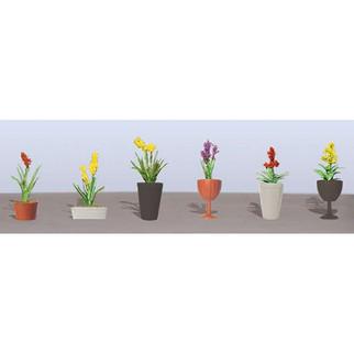 95567 HO Scale JTT Scenery Assorted Potted Flower Plants 2, 6/pk
