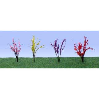 "95545 HO Scale JTT Scenery Flower Bushes 1/2"" to 3/4"" High 40/pk"