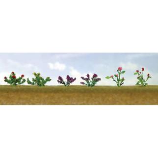 95558 O Scale JTT Scenery Assorted Flower Plants 1 10/pk
