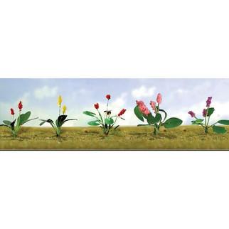 95562 O Scale JTT Scenery Assorted Flower Plants 3, 10/pk