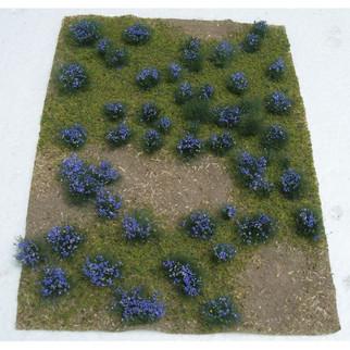 """95606 JTT Scenery Landscape Detailing Flowering Meadow Purple 5"""" X 7"""""""