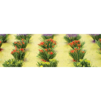 "95581 HO Scale JTT Scenery Detachable Flower Bushes 3/8"" High, 30/pk"