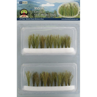 "95536 O Scale JTT Scenery Cattails 1 1/2"" High 24/pk"