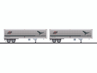 6-83581 O Scale Lionel CNW 40' Trailer 2-Pack