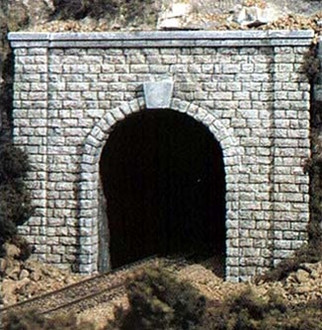 C1253 Woodland Scenics HO Scale Cut Stone Portal Single(1 each) Tunnel Portal