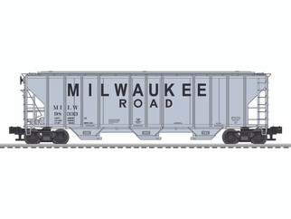6-84125 O Scale Lionel Milwaukee PS-2CD Covered Hopper