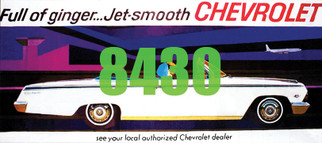 8430 HO Scale Tichy Train Group Billboard Chevrolet Jet Smooth