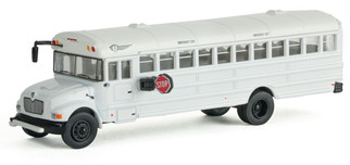 949-11702 HO Scale Walthers SceneMaster International MOW Crew Bus-Whitw w/Railroad Decal