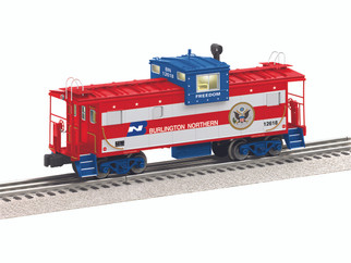 6-84130 O Scale Lionel Burlington Northern Wide Vision Caboose