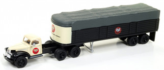 31168 HO Scale Classic Metal Works 41/46 Chevy Tractor/Covered Wagon Set-US Steel