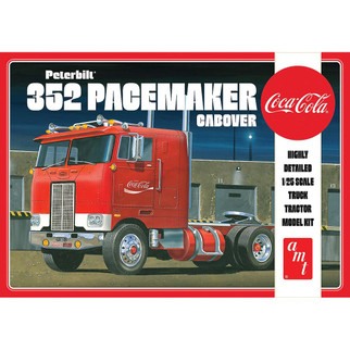 AMT1090 AMT Coca Cola Peterbilt 352 Pacemaker Cabover Truck Tractor 1/25 Scale Model Kit