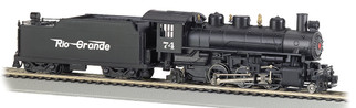 51526 HO Scale Bachmann Prairie 2-6-2 Locomotive & Tender w/Smoke & Operating Headlight-Rio Grande #74