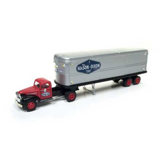31174 HO Scale Classic Metal Works 41/46 Chevy Tractor/Trailer Set The Mason Dixon Line